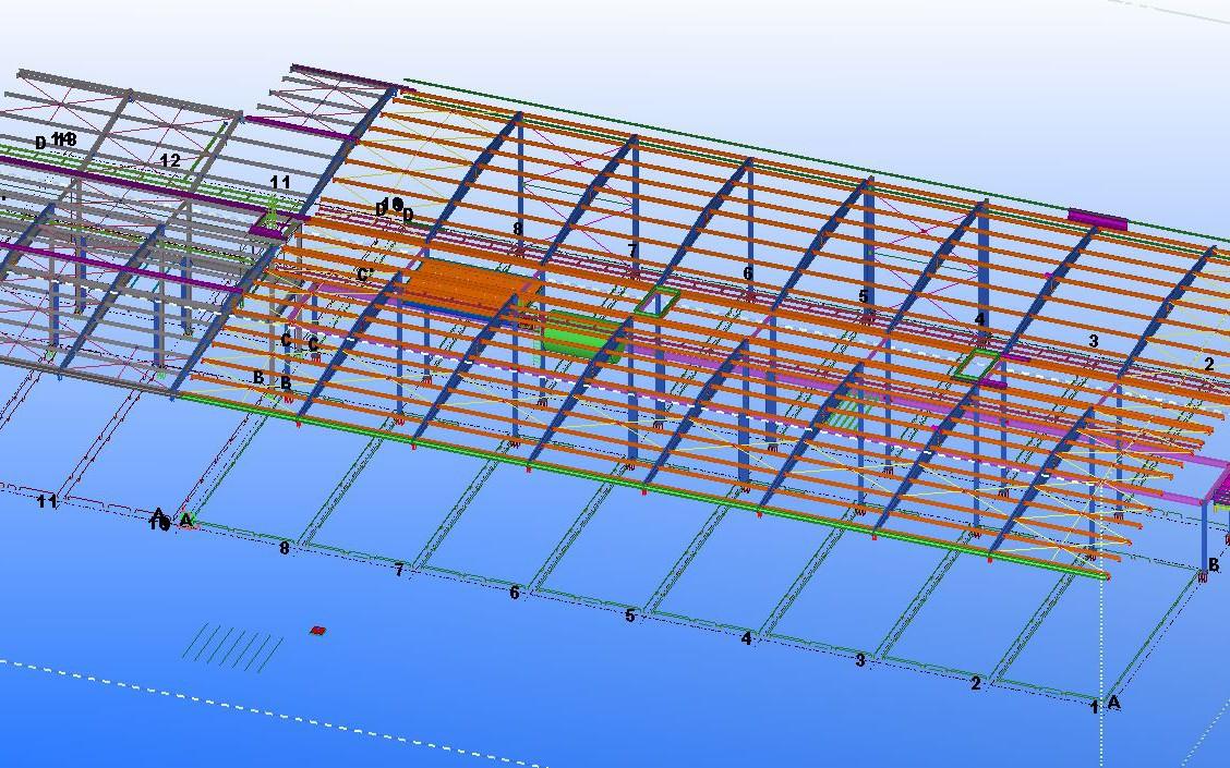 progettazione acciaio capannone industriale